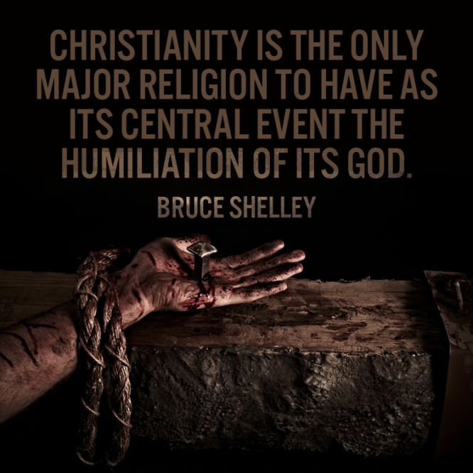 Christianity is the only major religion to have as its central event the...