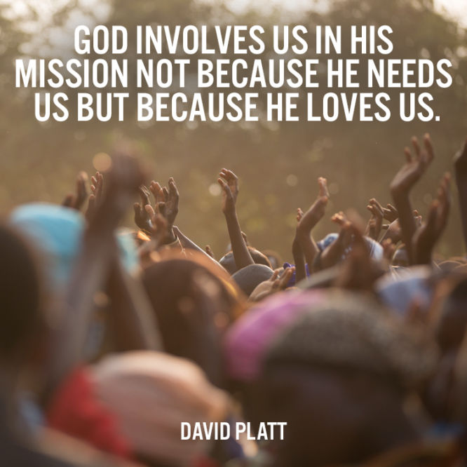 God involves us in His mission