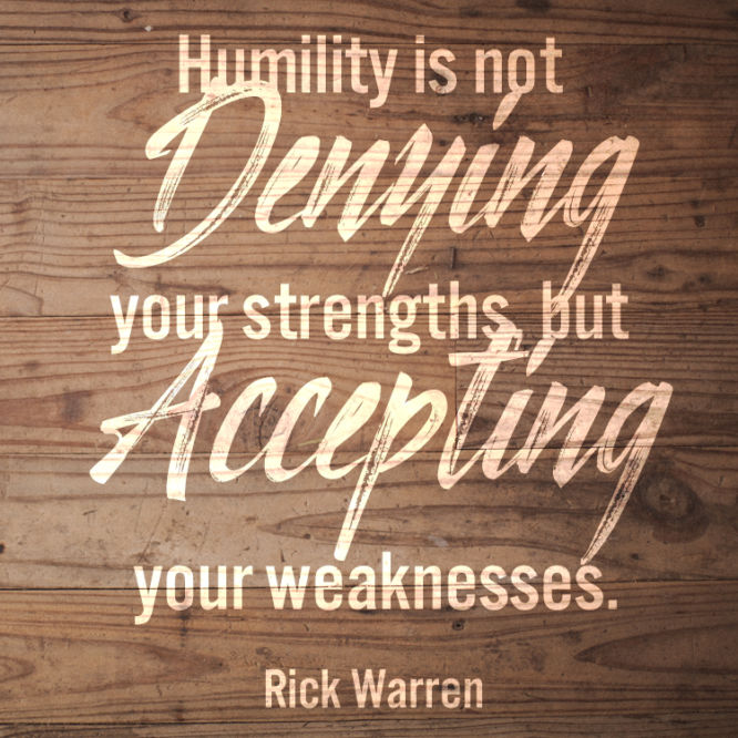 Humility is not denying your strengths