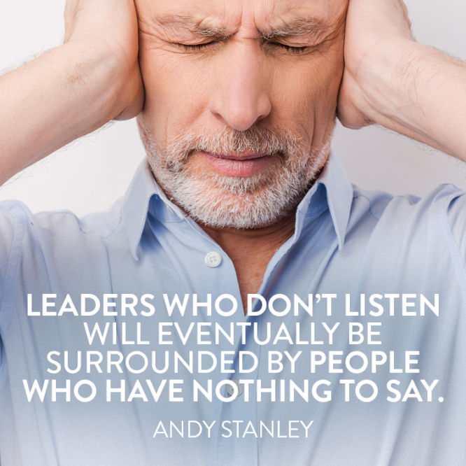 Leaders who don't listen