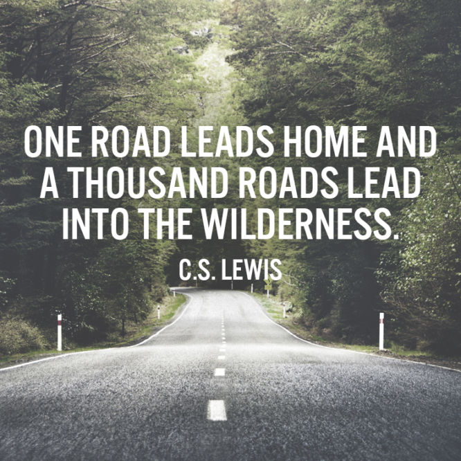 One road leads home and a thousand lead into the wilderness