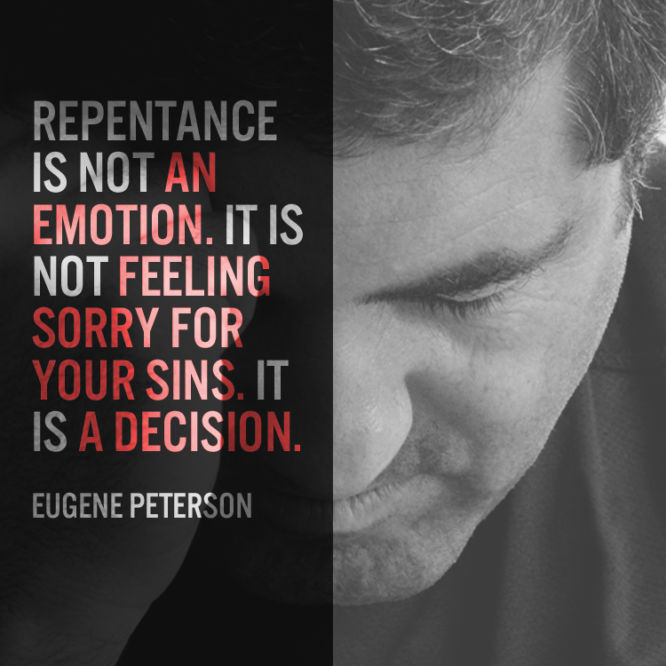 Repentance is not an emotion