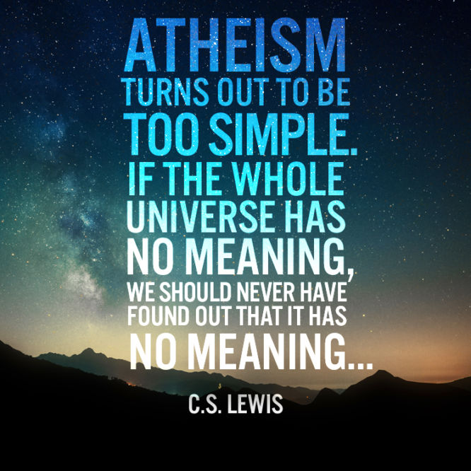 Atheism turns out to be too simple