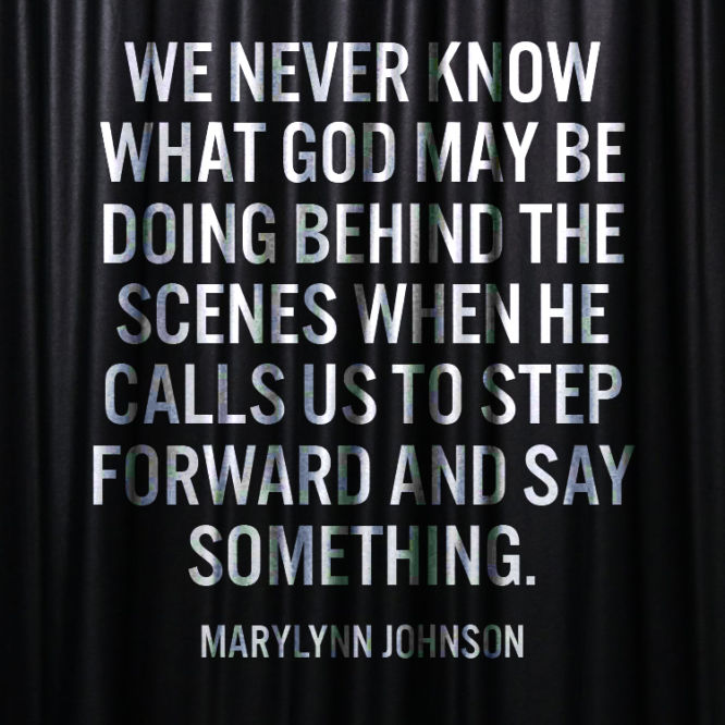 We never know what God may be doing behind the scenes when He...