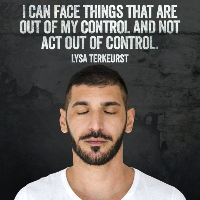 I can face things that are out of my control
