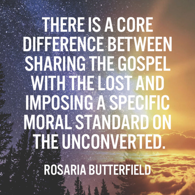 There is a core difference between sharing the gospel with the lost and...