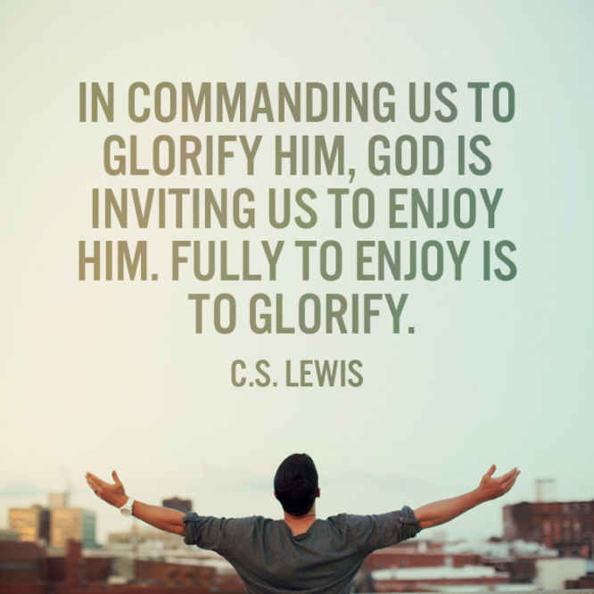 In commanding us to glorify Him, God is inviting us...