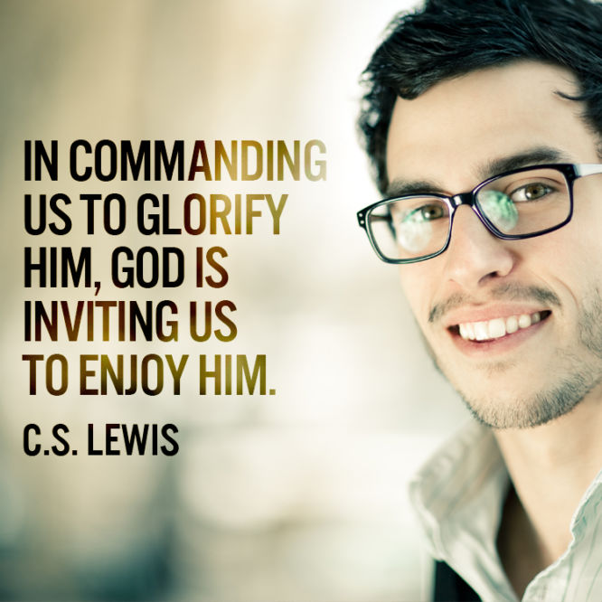 In commanding us to glorify him