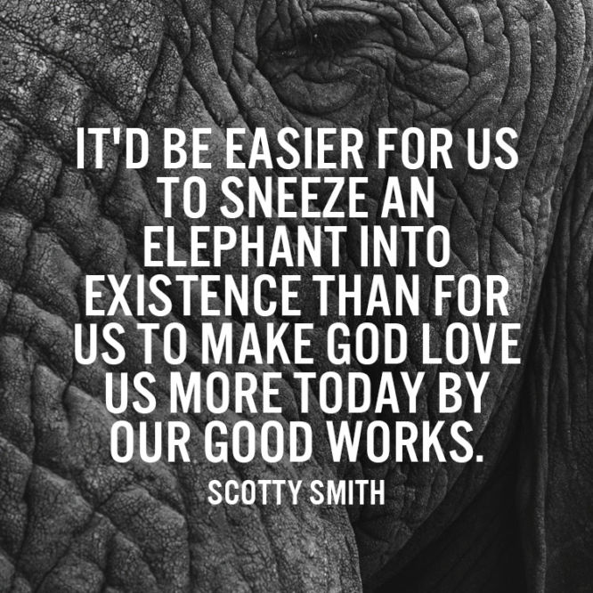 It'd be easier for us to sneeze an elephant into existence than for us to make...