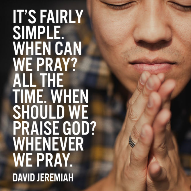 It's fairly simple. When can we pray?