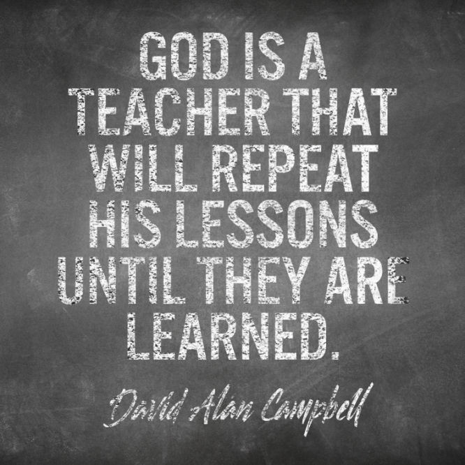 God is a teacher