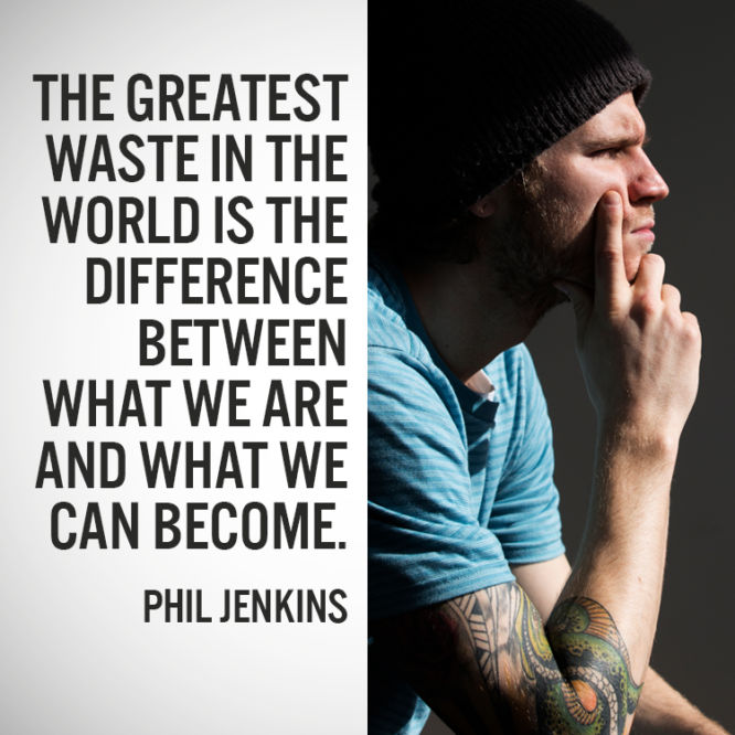 The greatest waste in the world is the difference between...