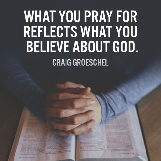 What you pray for reflects what you believe about God.