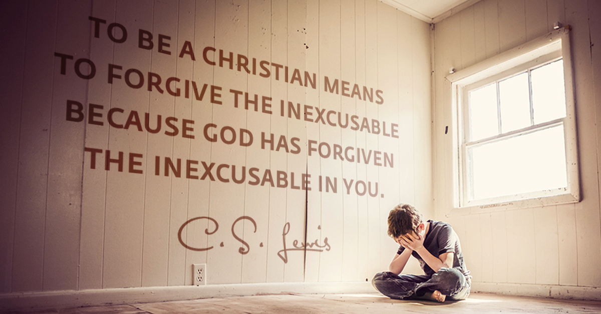 To be a Christian means to forgive the inexcusable
