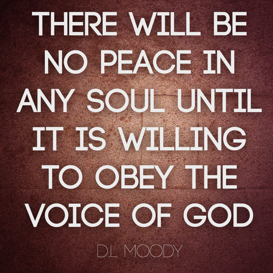There will be no peace in any soul until it is willing to