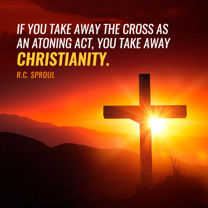 If you take away the cross as an atoning act, you take away Christianity.