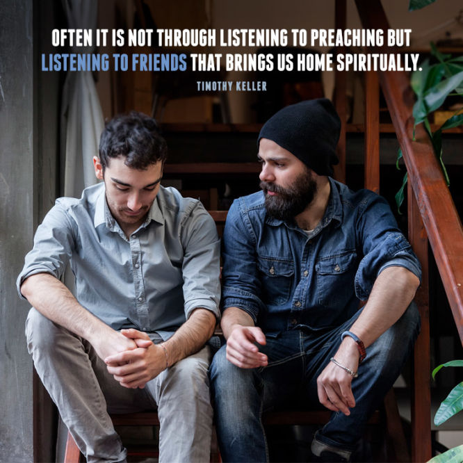 Often it is not through listening to preaching but...