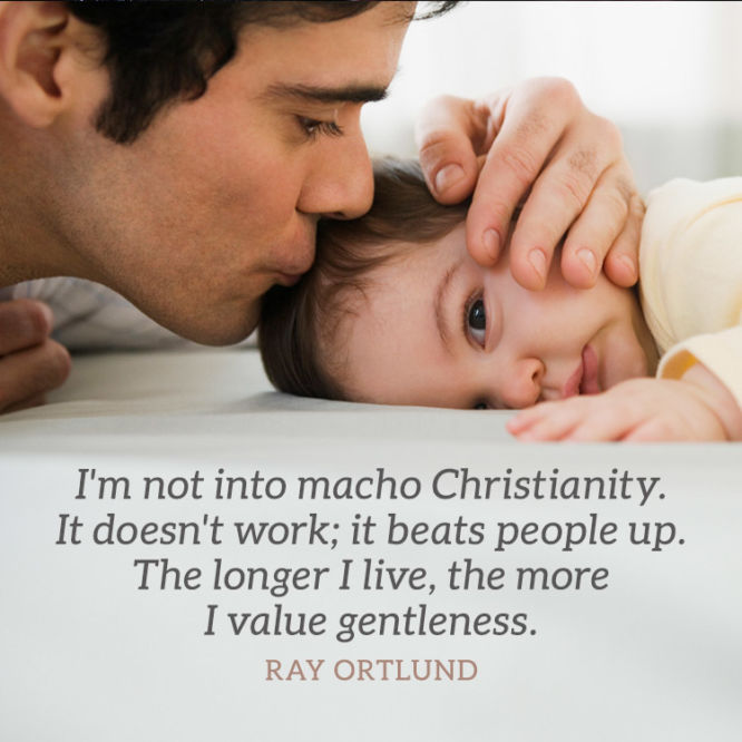 I'm not into macho Christianity. It doesn't work...