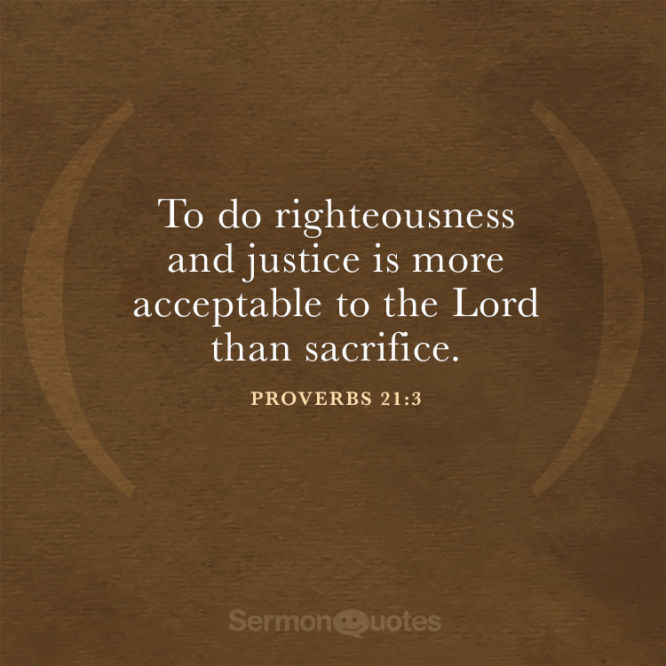 To do righteousness and justice is more acceptable...