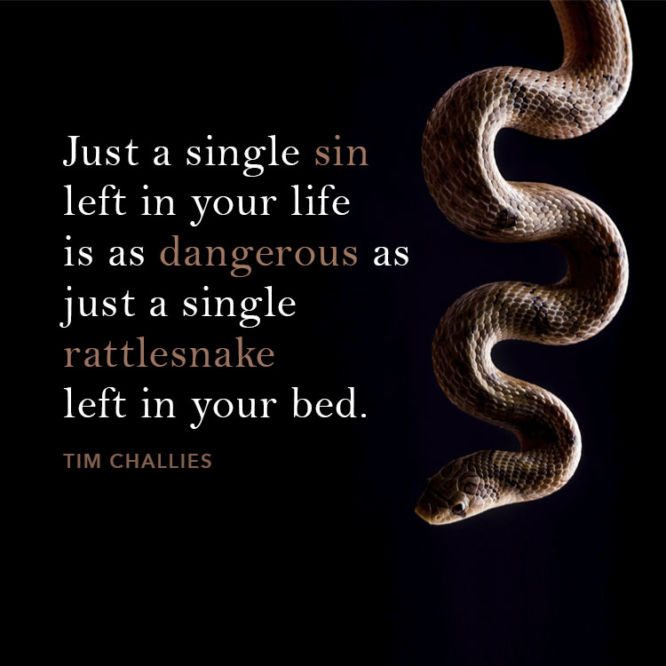 Just a single sin left in your life is as dangerous as a...