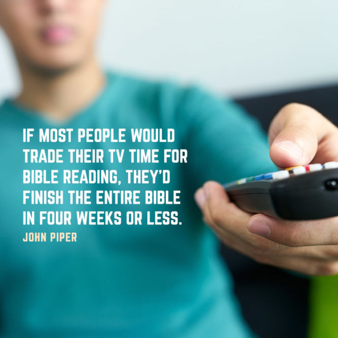 If most people would trade their TV time for Bible reading...