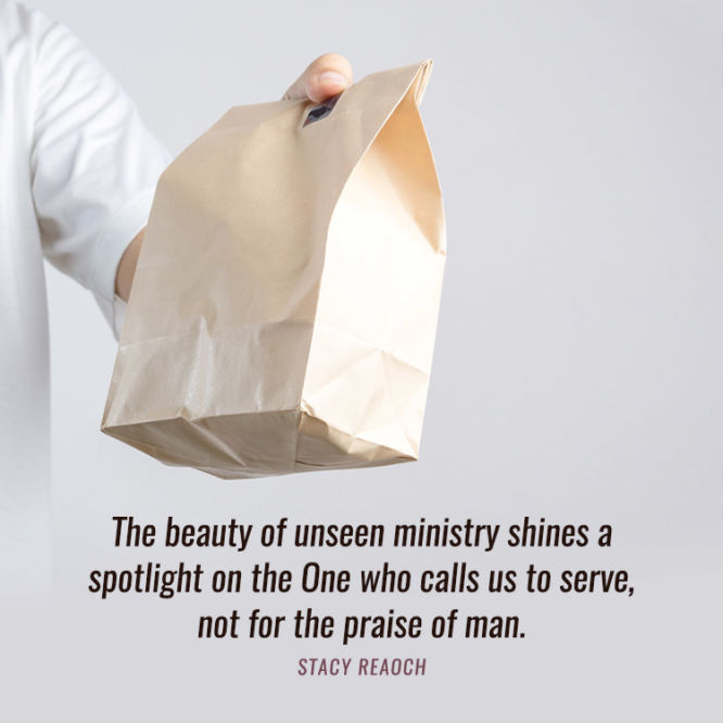 The beauty of unseen ministry shines a spotlight on the One who calls us to serve...