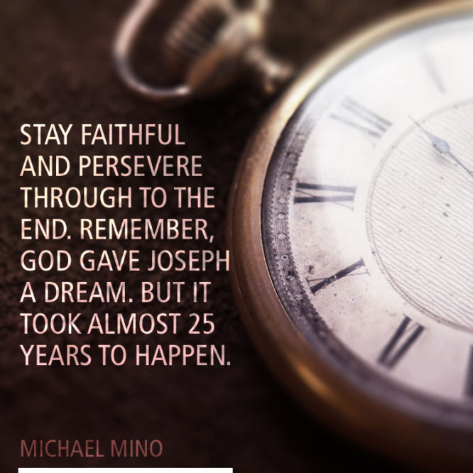 Stay faithful and persevere through to the end