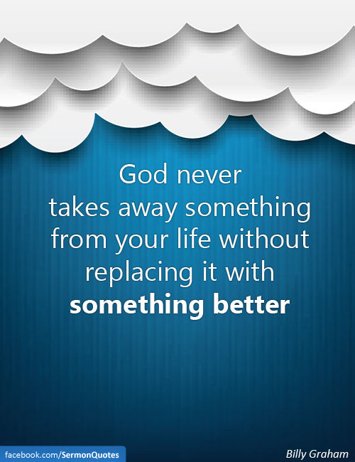 god-never-takes-away