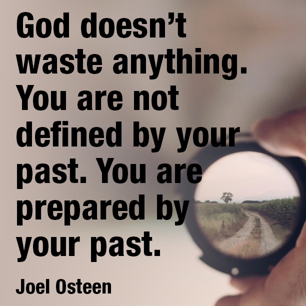 God doesn't waste anything