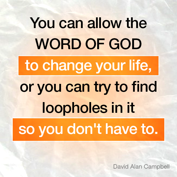 You can allow the Word of God