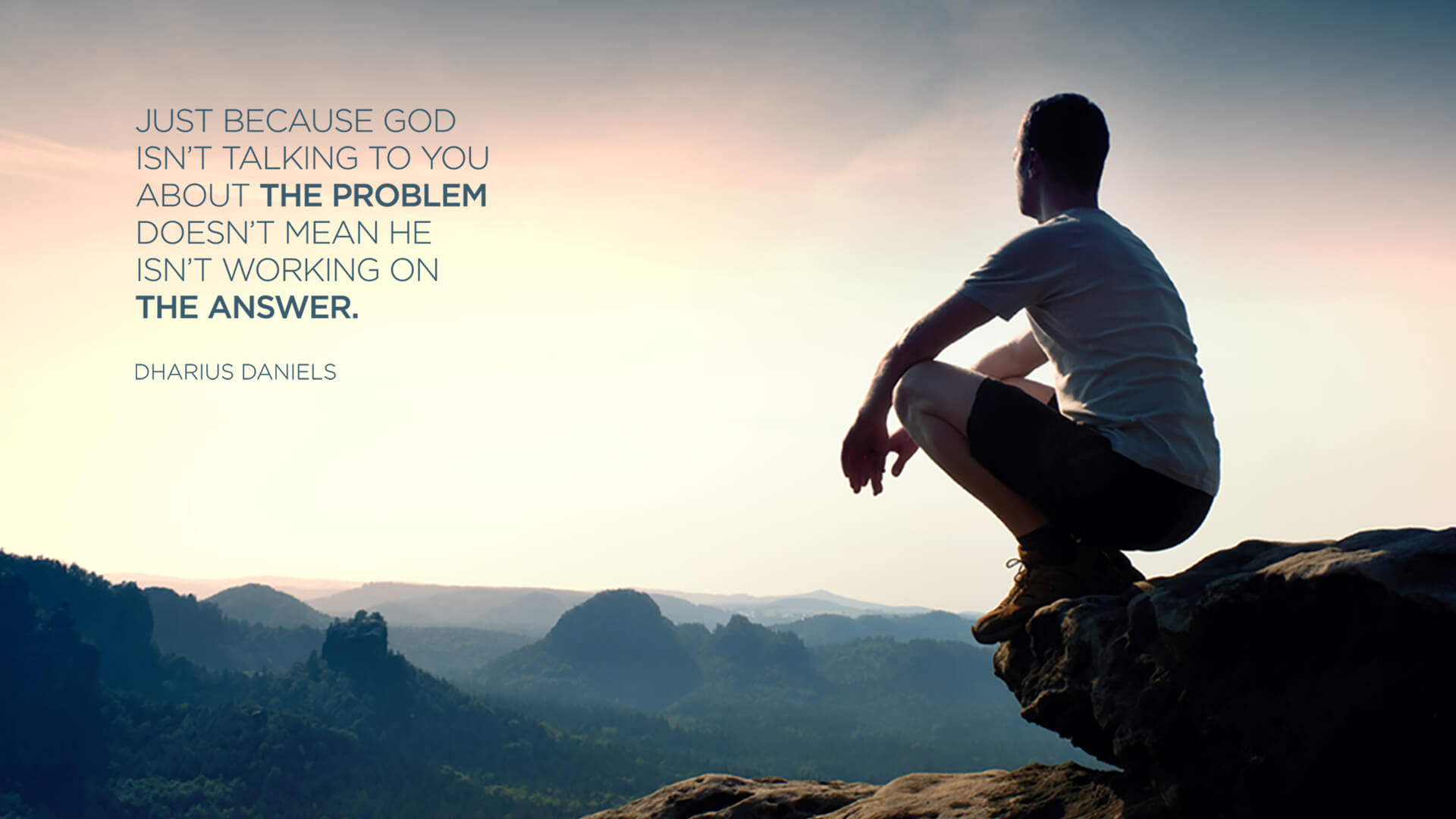 Just Because God Desktop Wallpaper Sermonquotes